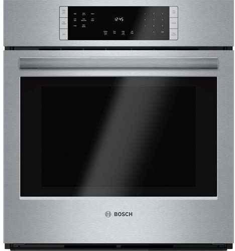 """Bosch HBN8451UC 800 27"""" Stainless Steel Electric Single Wall Oven - Convection"""