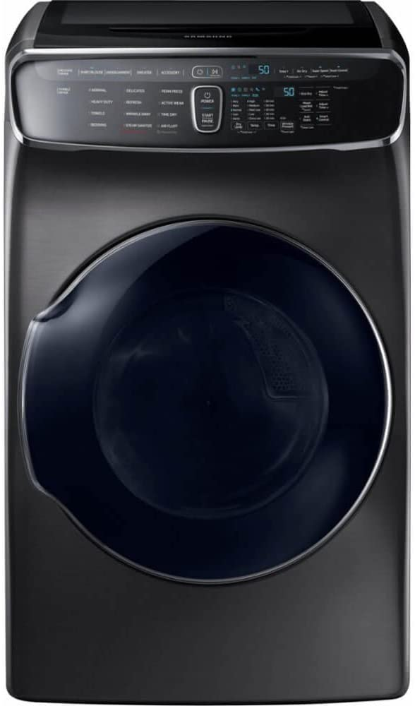 Samsung DVE60M9900V/DVE60M9900V/A3/DVE60M9900V/A3 7.5 Cu. Ft. Black Stainless Electric Dryer with FlexDry