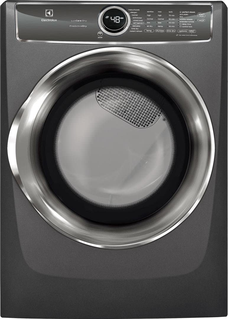 Electrolux EFME627UTT 27 Inch Electric Dryer with 8 cu. ft. Capacity, in Titanium