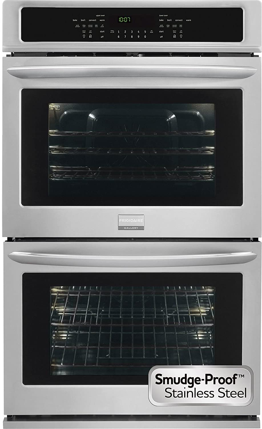 Frigidaire FGET3065PF Gallery Series 30 Inch Electric Double Wall Oven with Convection Powerful Broil, Quick Preheat, One-Touch Options in Stainless Steel